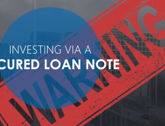 Invest In A Secured Loan Note